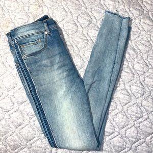 Express denim perfect jeans, legging high rise 4/R